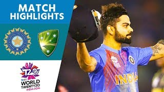 ICC #WT20 - India vs Australia Highlights(All the highlights as another trademark Virat Kohli innings in a chase sees India into the semi-finals of #WT20., 2016-03-27T18:19:26.000Z)
