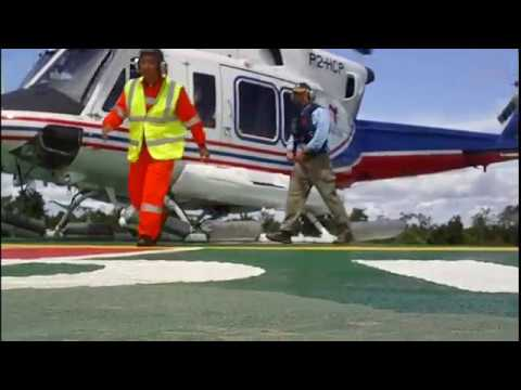 Helicopter landing and take off Offshore Vessel Castoro 10 Papua New Guinea.wmv