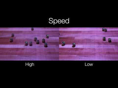 Human Perception of Swarm Robot Motion