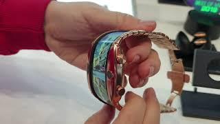 Así funciona Nubia Alpha, el primer móvil moldeable con forma de reloj