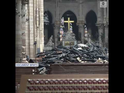 First look inside Notre Dame cathedral after devastating fire | ABC News