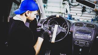 Химчистка салона VW Golf 6. Обучение Романа