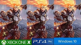 Darksiders 3 - PS4 Pro vs Xbox One X vs PC Graphics Comparison, Complete Engine Analysis!