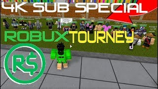 4k SUBSCRIBER ROBUX TOURNEY!!! | Roblox: Dragon Ball Z Final Stand