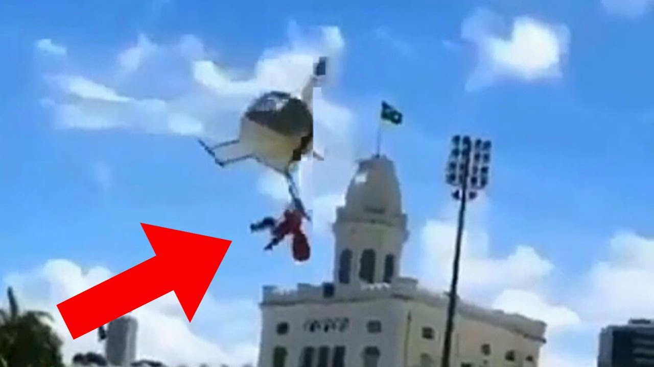Crazy Man HANGS On To Flying Helicopter - Daily dose of aviation