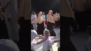 world best school trip to khana kaba , small girls doing herm tawaf