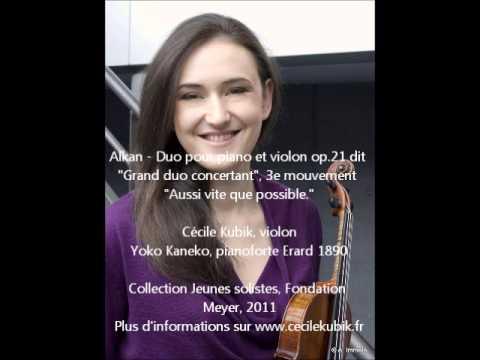 Alkan - Duo concertant pour piano et violon op.21, dit Grand duo concertant.