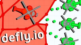 The ULTIMATE BASE DEFENSE and DESTROYING ENEMIES! - Defly.io Gameplay - New IO Game