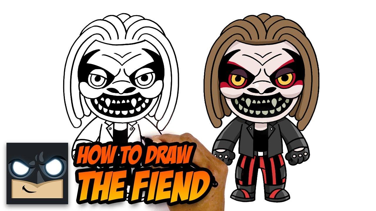 How To Draw The Fiend   Bray Wyatt - YouTube