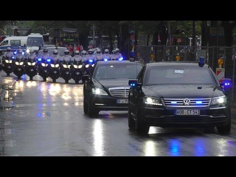 Die Queen in Berlin - VIP Kolonne zum Hotel Adlon
