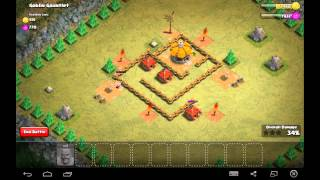 Goblin Gauntlet - Town Hall Level 1 - 10 Barbarians - Simple Clash of Clans