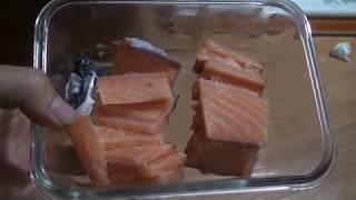 연어 훈제 맛있는것 진짜 맛있는것 먹고싶다 필렛 썰기 …