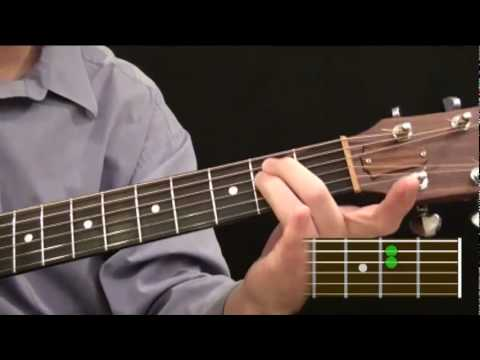 Part 54 Beginner Guitar Course How To Make An E Chord On The