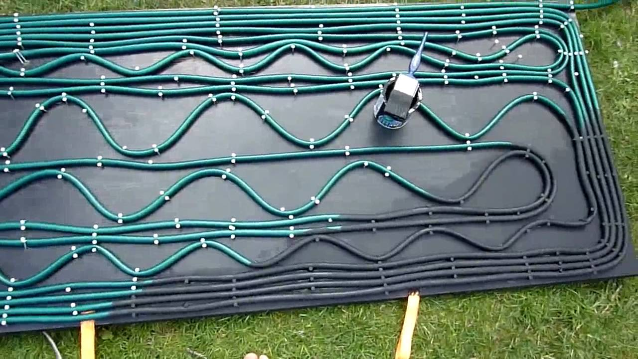 Homemade Swimming Pool Solar Heating System - YouTube