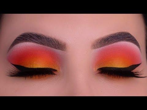 Orange & Yellow Fall Makeup | USING ONLY 2 EYESHADOWS! thumbnail