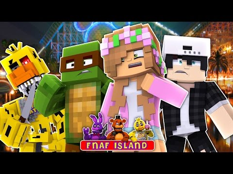 GOING TO Five Nights At Freddys ISLAND!Minecraft Little Kelly w/TinyTurtle & Raven(Custom Roleplay)