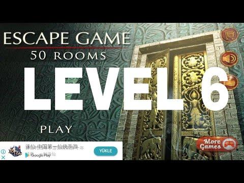 Escape Game 50 Rooms 1 Level 6 Walkthrough Youtube
