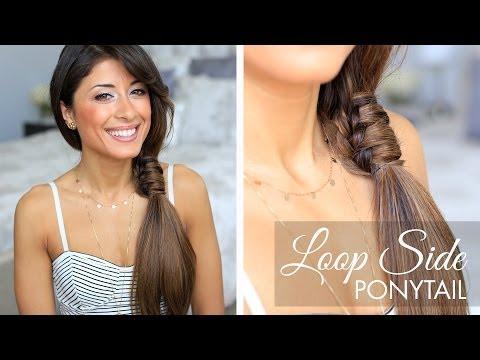 Loop Side Ponytail Cute Hairstyle
