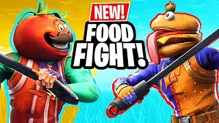 NEW UPDATE!! *FOOD FIGHT GAME MODE* (Fortnite Battle Royale)