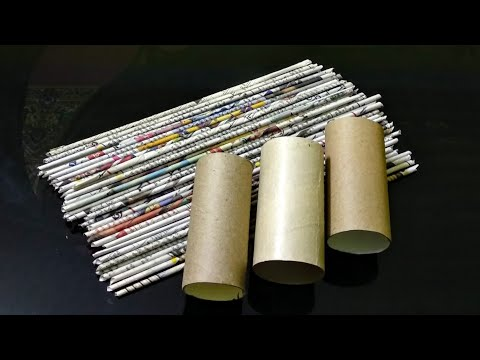 Best out of waste/DIY Newspaper craft