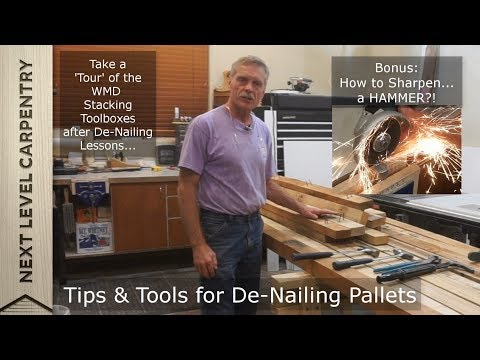 Tips for De-nailing Pallets PLUS Stacking Toolbox 'Tour' and MORE!!