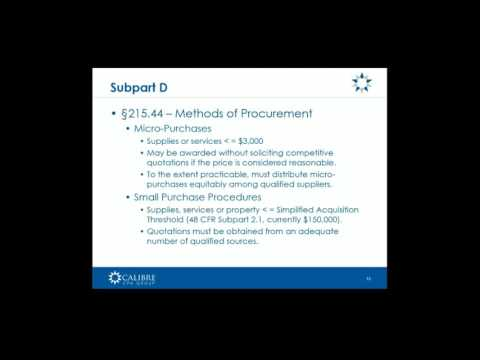 Procurement under The OMB's New 'Super Circular' Shawn Miller