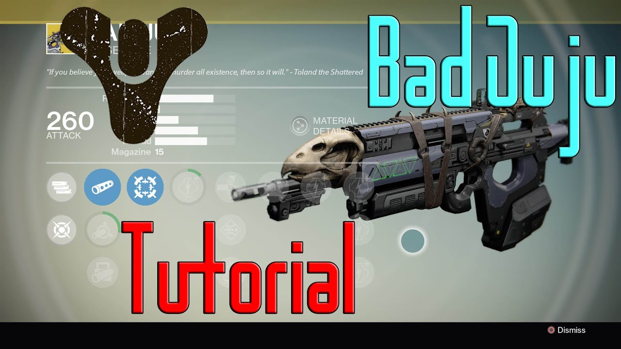 Destiny quot toland s legacy quot exotic bounty guide bad juju youtube