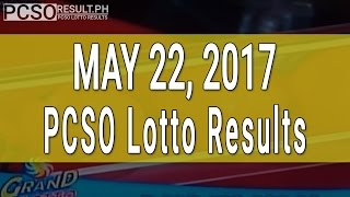 PCSO Lotto Results May 22, 2017 (6/55, 6/45, 4D, Swertres & EZ2)