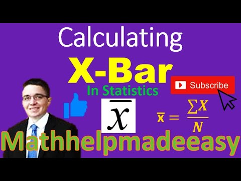 Finding X Bar In Statistics Video Youtube