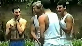 Freddie Mercury, Jim Hutton and the boys are relaxing in the garden