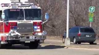 EDISON NEW JERSEY THIRD ALARM LARGE BRUSH FIRE 4/1/15