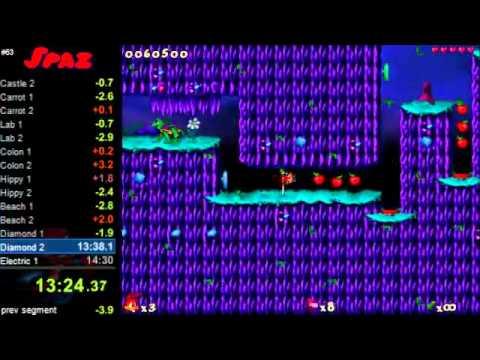 Jazz Jackrabbit 2 Speedrun (as Spaz) 22:37