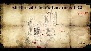 Assassins creed 4 Black Flag all treasure maps 1-22 part 1/2
