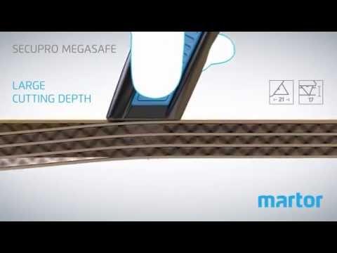 Safety knife MARTOR SECUPRO MEGASAFE product video GB