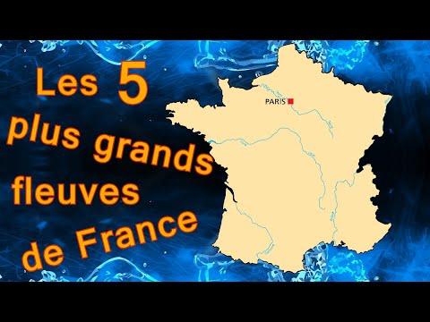 Les 5 plus grands fleuves de France. Géographie