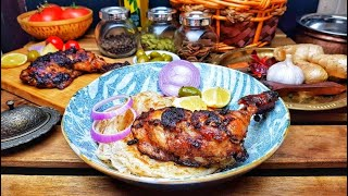 Arabic Style Al Faham Chicken without oven - better than the Restaurant style