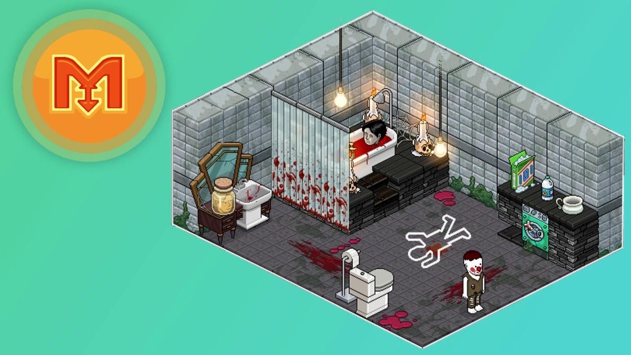 Habbo Halloween.Stackmasters 2 In 1 How To Build A Haunted Habbo Halloween Attic Bathroom Youtube