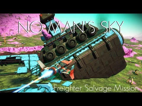 No Man's Sky Crashed Freighter Exploration and Salvage Missi