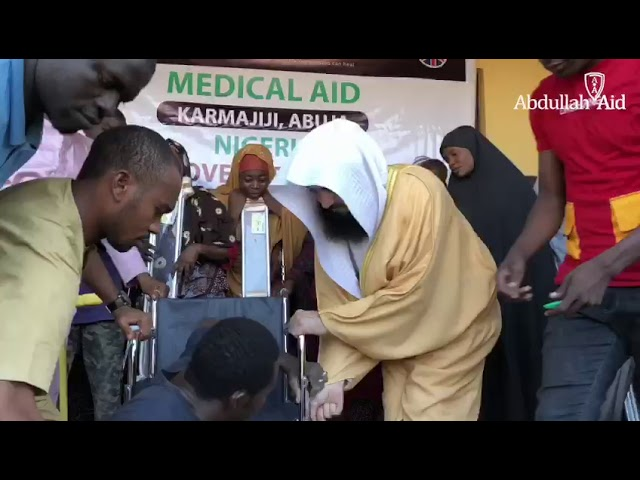 Serving the disabled in Nigeria - Mufti Menk