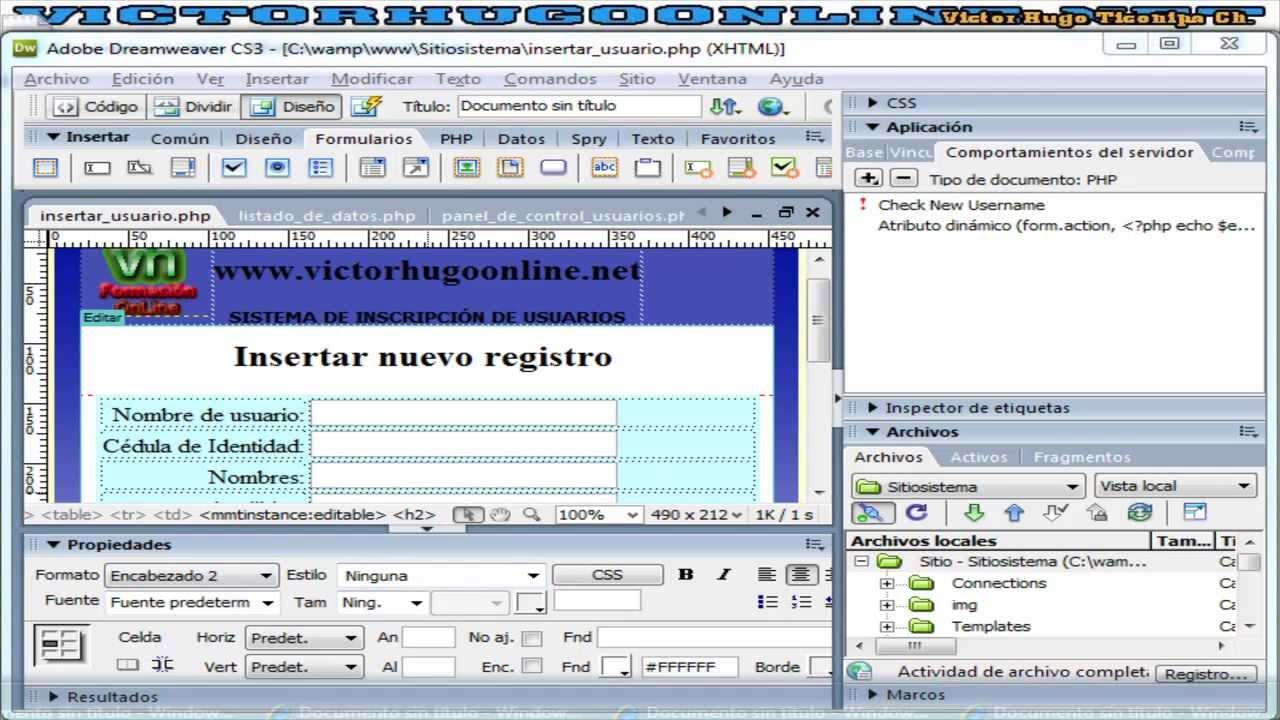10_2 Validar Formulario Ingreso De Usuarios a PaneldeControl con ...