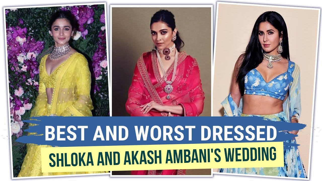 Deepika Padukone, Alia Bhatt: Best and worst dressed at Shloka & Akash Ambani's wedding   B