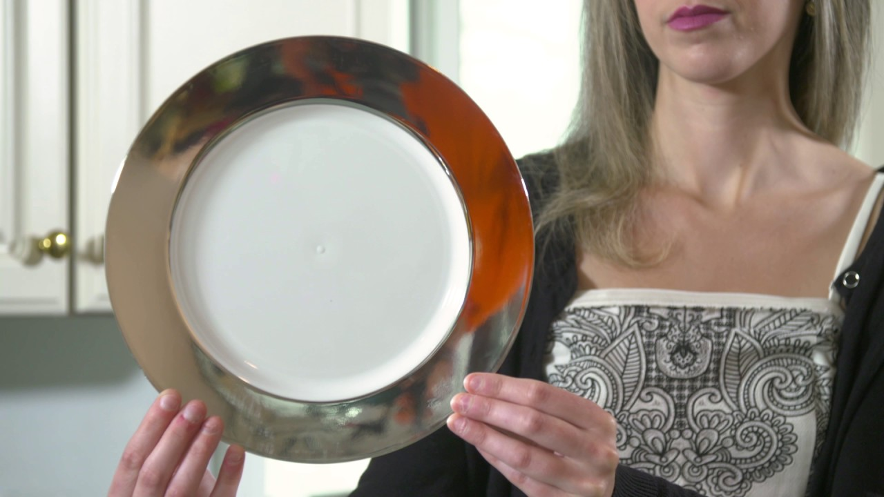 Heavy Duty Clear Wedding Plastic Plates & Heavy Duty Clear Wedding Plastic Plates - YouTube