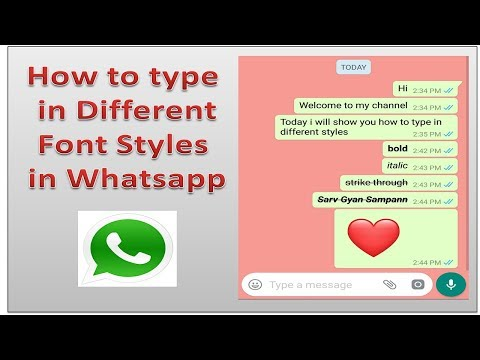 How to change Font Style in Whatsapp   Bold, Italic & Strikethrough Font Style me kaise type kare