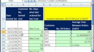 Excel Magic Trick 371: Average Time Between Customer Orders AVERAGEIF & AVERAGE IF