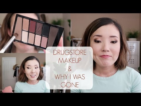 Chatty Get Ready DRUGSTORE Makeup + Where Have I Been?