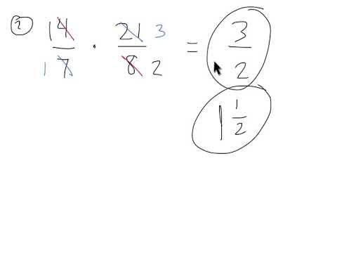Pre-algebra - Multiply and Divide Fractions