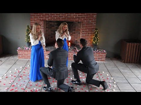 Twin Brothers Make Twin Marriage Proposals to Twin Sisters