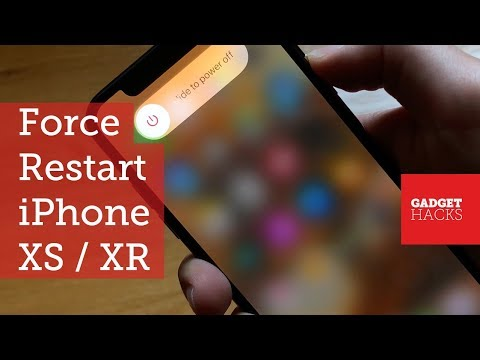 How to Force Restart the iPhone XS, XS Max & iPhone XR