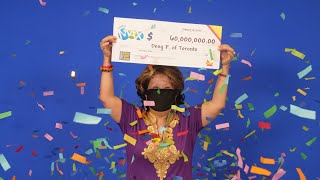 A DREAM COME TRUE: LOTTO MAX $60-million winner always plays same numbers