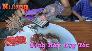 Black - Nướng Thịt Bò Bằng Máy Kẹp Tóc